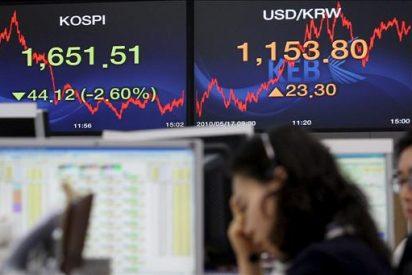 El índice Kospi bajó 5,95 puntos, el 0,34 por ciento, hasta 1.737,36 puntos