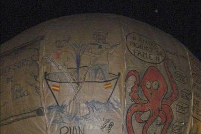 Festejan San Roque con el globo de papel más grande del mundo