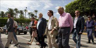 Aznar llega a Melilla como muestra de apoyo a las Fuerzas de Seguridad