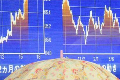 El índice Nikkei sube 24,49 puntos, el 0,27 ciento, hasta 9.265,03 puntos