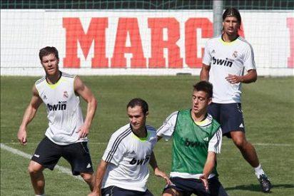 El jugador del Real Madrid Benzemá se ejercita en solitario