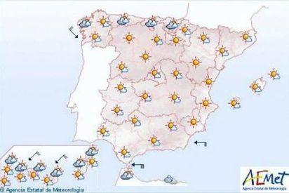 Cielos poco nubosos y vientos de Levante moderados hoy en Melilla