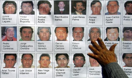 El Gobierno chileno confirma que una sonda se encuentra a 20 metros de los mineros atrapados