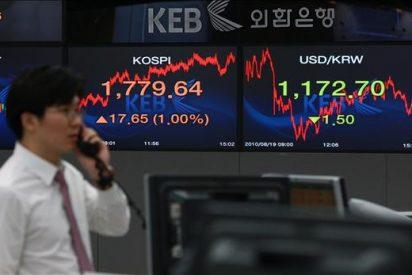 El índice Kospi baja 10,61 puntos, el 0,60 por ciento, hasta 1.757,10 puntos