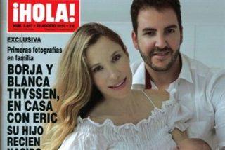 Borja Thyssen y Blanca Cuesta presentan a su hijo Eric