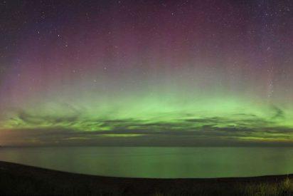 Una explosión solar permite ver la aurora boreal en la Tierra
