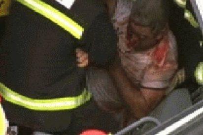Rescatado el chófer de un camión tras dos horas atrapado en la cabina