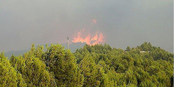 Magrebíes causan un gigantesco incendio en Navarra al asar cordero para el Ramadán