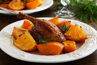 Pato a la naranja paso a paso
