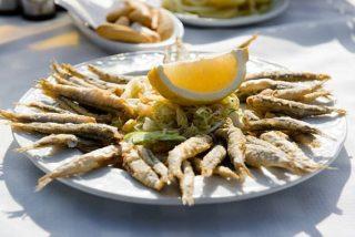 Pescado frito crujiente a la andaluza