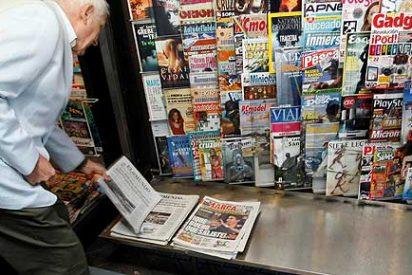 Los periódicos reducen un 40% el número de páginas