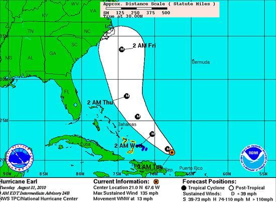 """El peligroso huracán """"Earl"""" dio un gran susto al Caribe"""