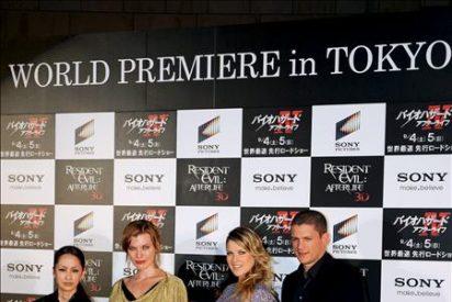 """Estreno mundial en Tokio de """"Resident Evil: Afterlife 3D"""" con Milla Jovovich"""