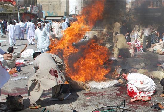 Al menos 59 muertos en tres atentados en Pakistán