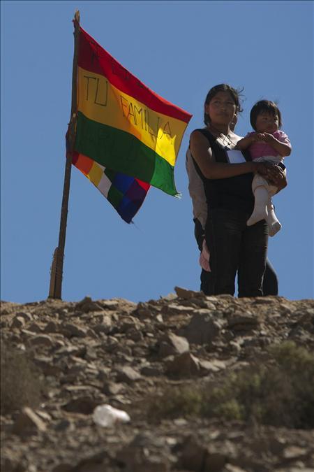 Familiares del minero boliviano atrapado en Chile piden la presencia de Evo Morales