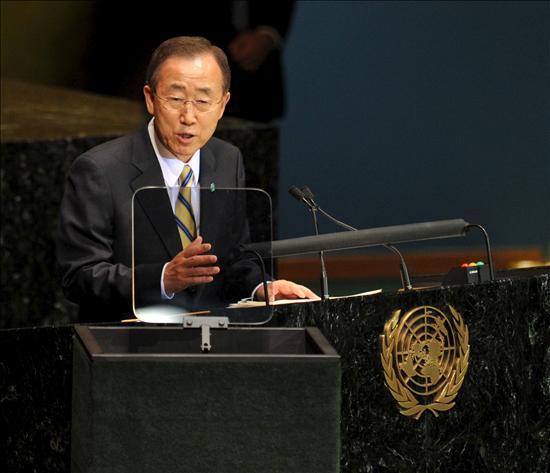Ban insiste a los países en que inviertan para cumplir los Objetivos del Milenio