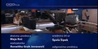"""Un presentador esloveno conduce el """"Telediario"""" en calzoncillos"""
