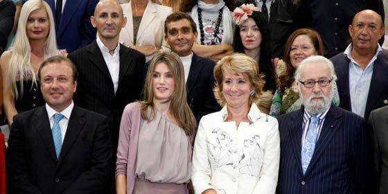 Esperanza Aguirre y la Princesa de Asturias visitan la Cibeles Madrid Fashion Week