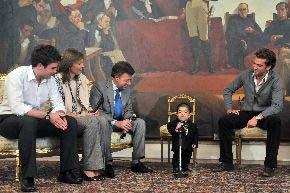 Presidente de Colombia se reunió con el hombre más pequeño del mundo