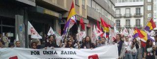 IU ensaya la huelga general en Santiago