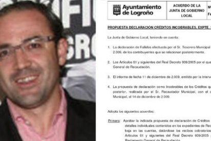 El Ayuntamiento de Logroño perdona multas a los amiguetes del bipartito por valor de 6000 euros