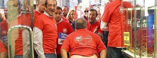 El 'corazón partío' de políticos y sindicalistas