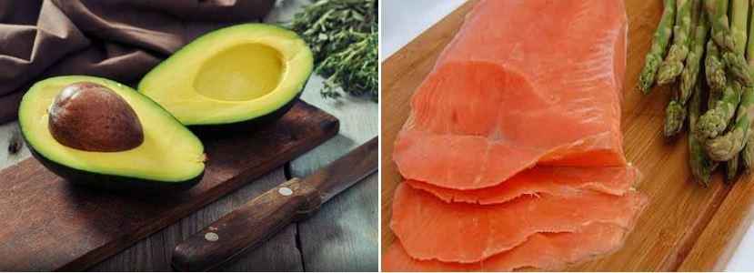 nutrientes aportan el salm贸n y el aguacate