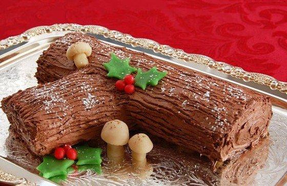 Cómo hacer tronco de Navidad de chocolate