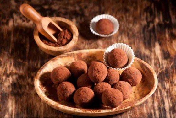 trufas chocolate negro
