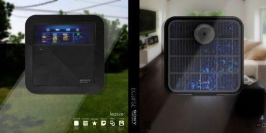 Sony desarrolla un Media Player que se pega a la ventana y funciona sólo con energía solar