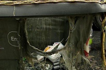 La Ertzaintza investiga la quema intencionada de contenedores en Gernika (Vizcaya) y Zumarraga (Guipúzcoa)