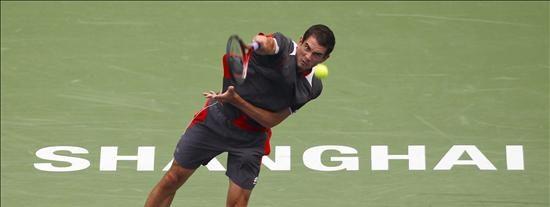 El serbio Novak Djokovic vence al español Guillermo García López en cuartos del torneo de Shanghai
