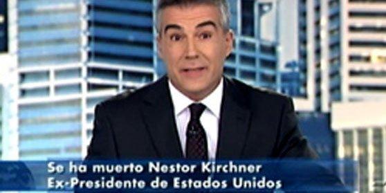 Kirchner fue presidente de EE.UU. según Telecinco