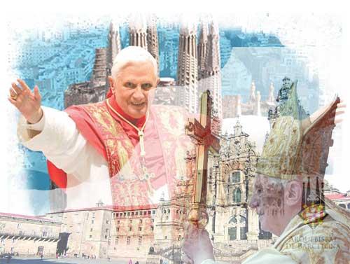 Unos 2.000 periodistas informarán de la visita del papa a Barcelona y Santiago