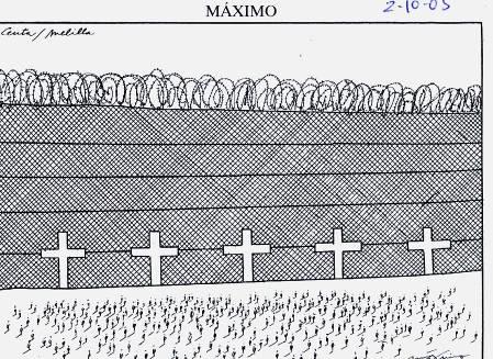 En memoria de los muertos de la valla de Ceuta