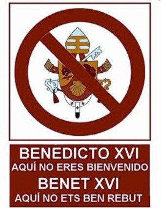Colectivos críticos con el Papa se movilizan contra su visita a Barcelona