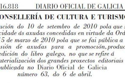 La Consellería de Cultura engorda en 300.000 euros las cuentas de las editoriales