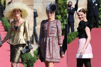 Nieves Álvarez, Nuria March y Alejandra Rojas, las más elegantes en la boda de Rafa Medina y Laura Vecino