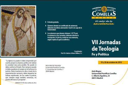 Fe y política, a debate en las VII Jornadas de Teología de Comillas el 19 y 20 de octubre
