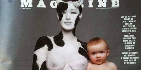 "Critican una portada del suplemento dominical de El Mundo por ""intentar desprestigiar la lactancia materna"""