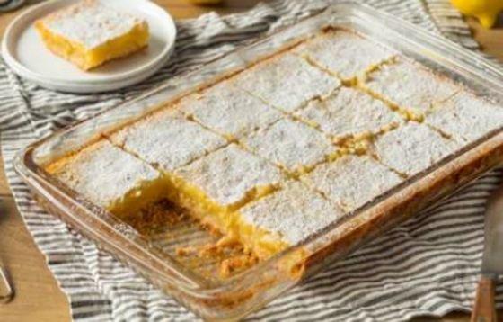 Pastelitos de limón o lemon bars
