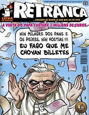 """Una revista satírica gallega, """"secuestrada"""" por un chiste sobre el Papa"""