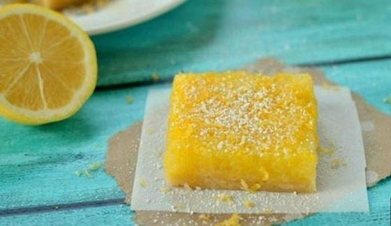 Pastelitos de limón o limón bars fáciles