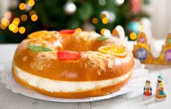 Roscón de Reyes de nata