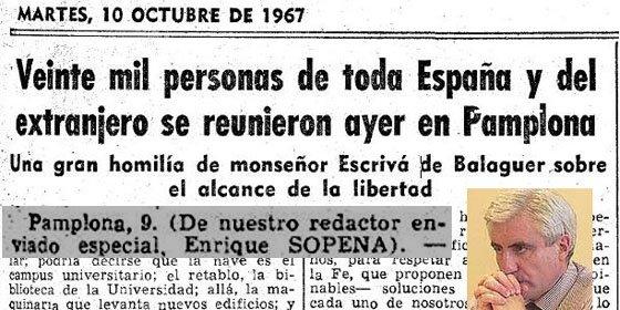Los escritos fervorosos de Enric Sopena sobre el fundador del Opus Dei