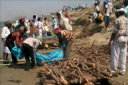 Sube a 62 el número de muertos por naufragio en el este de la India