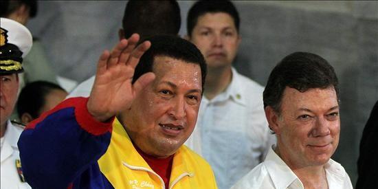 Santos viaja a Caracas para su segunda reunión con Chávez