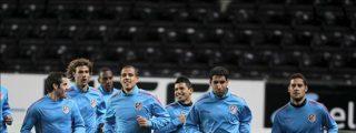 El Atlético examina su remontada europea en un escenario incómodo