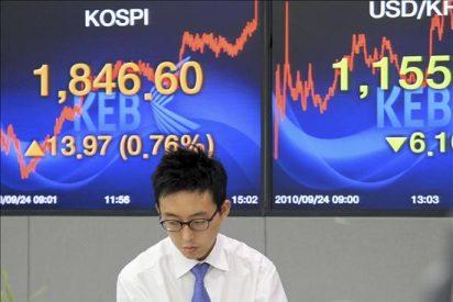 El índice Kospi subió 19,84 puntos, el 1,02 por ciento, hasta 1.962,34 puntos