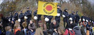 Empiezan las protestas en Alemania contra el tren de residuos radiactivos